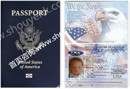 美国国籍宝宝护照展示